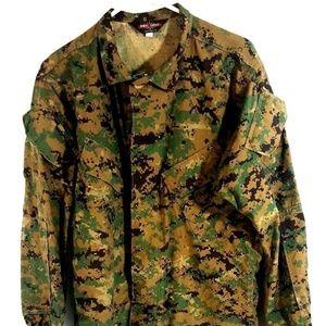 Tru-Spec Digital Camo Jacket Green Size Medium Lng